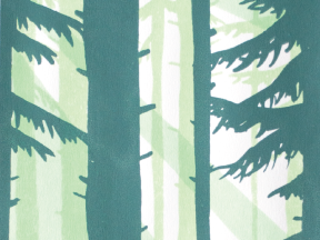 thumbnail of a screenprint poster of a forest