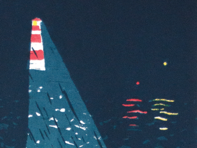 thumbnail of screenprint poster of a lighthouse