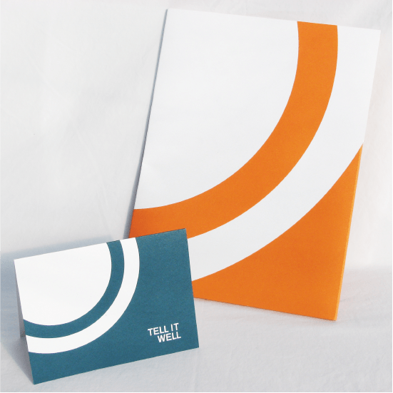 folder and thank you card in the Worktank brand